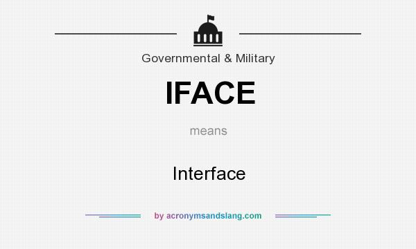 What does IFACE mean? It stands for Interface