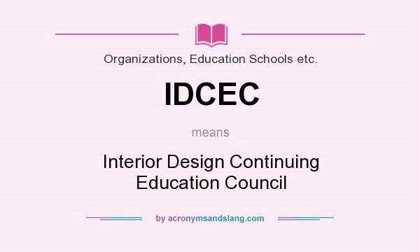 What Does IDCEC Mean