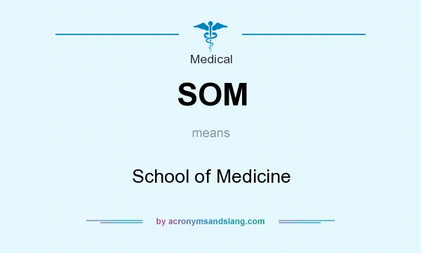 What does SOM mean? It stands for School of Medicine