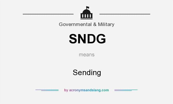 What does SNDG mean? It stands for Sending