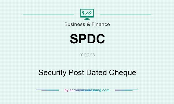 What does post dating a cheque means