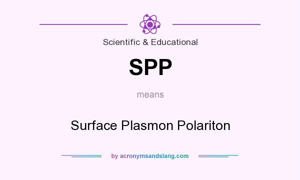 What does SPP mean? It stands for Surface Plasmon Polariton