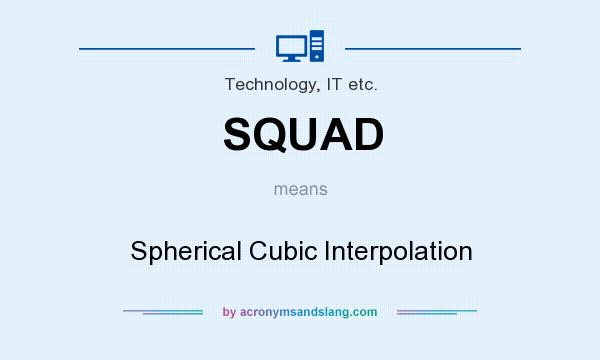 SQUAD - Spherical Cubic Interpolation in Technology, IT etc