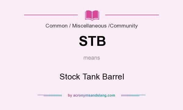 STB - Stock Tank Barrel in Business & Finance by