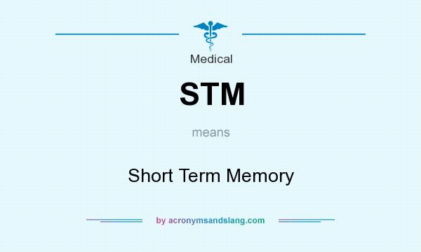 What does STM mean? It stands for Short Term Memory