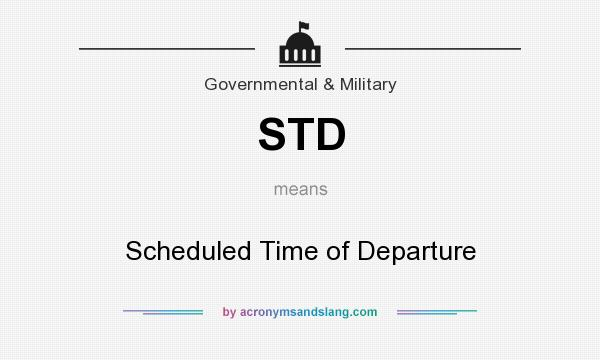 Std Scheduled Time Of Departure By Acronymsandslang Com