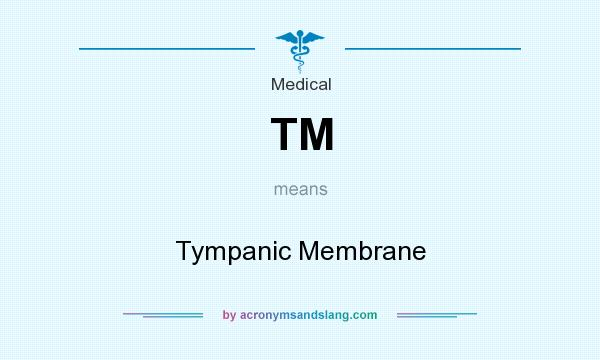 What does TM mean? It stands for Tympanic Membrane