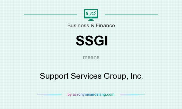What does SSGI mean? It stands for Support Services Group, Inc.