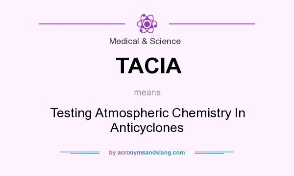 What does TACIA mean? It stands for Testing Atmospheric Chemistry In Anticyclones