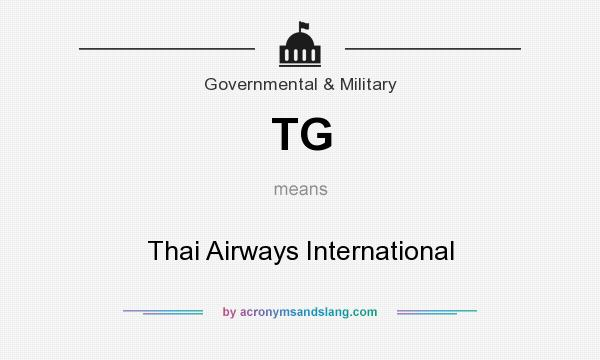 What does TG mean? It stands for Thai Airways International