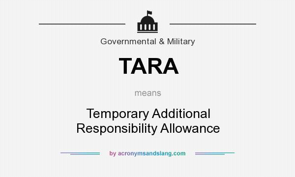 TARA - Temporary Additional Responsibility Allowance in Government