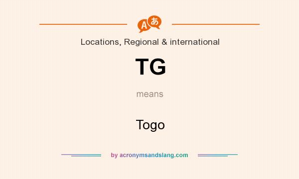 What does TG mean? It stands for Togo