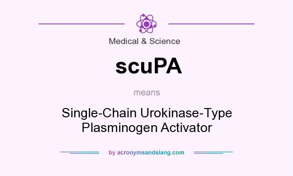 What does scuPA mean? It stands for Single-Chain Urokinase-Type Plasminogen Activator