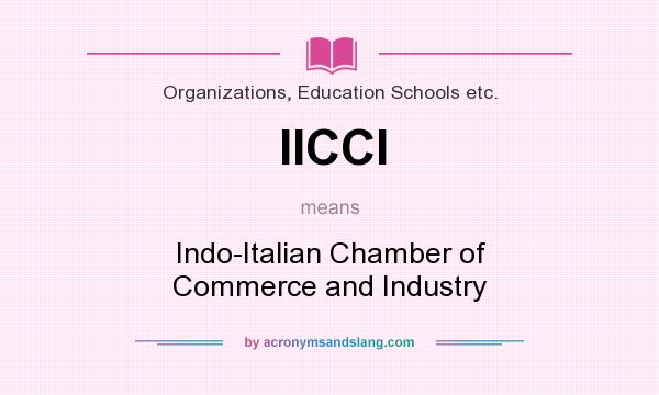 What does IICCI mean? It stands for Indo-Italian Chamber of Commerce and Industry