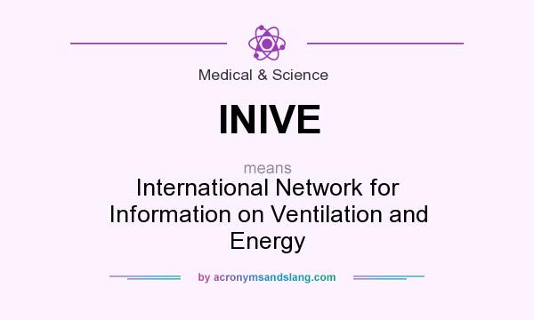 What does INIVE mean? It stands for International Network for Information on Ventilation and Energy