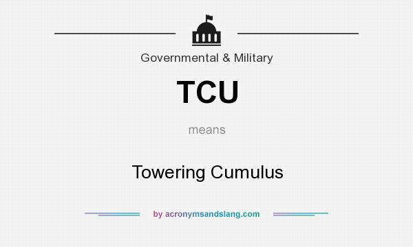 What does TCU mean? It stands for Towering Cumulus