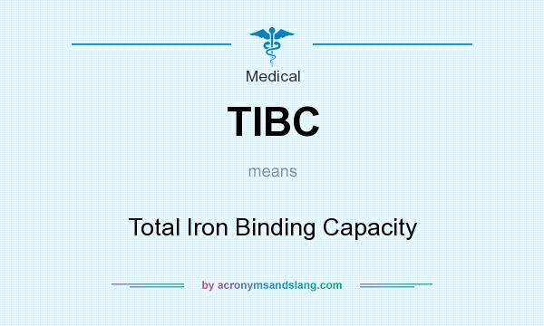 What does TIBC mean? It stands for Total Iron Binding Capacity