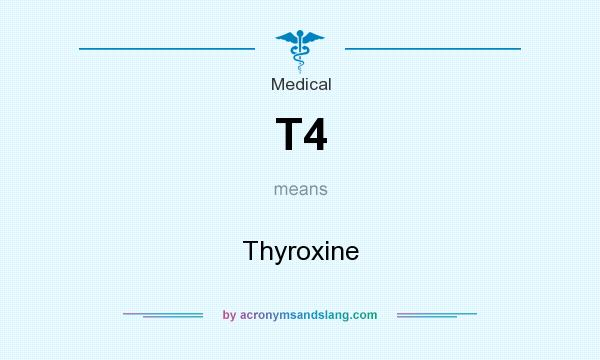What does T4 mean? It stands for Thyroxine