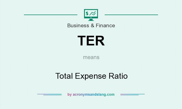 What does TER mean? It stands for Total Expense Ratio