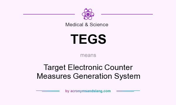 What does TEGS mean? It stands for Target Electronic Counter Measures Generation System