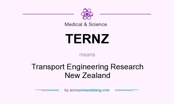 What does TERNZ mean? It stands for Transport Engineering Research New Zealand