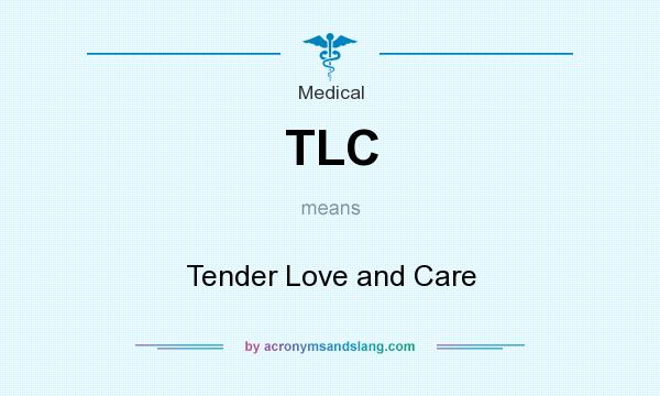 What does TLC mean? It stands for Tender Love and Care