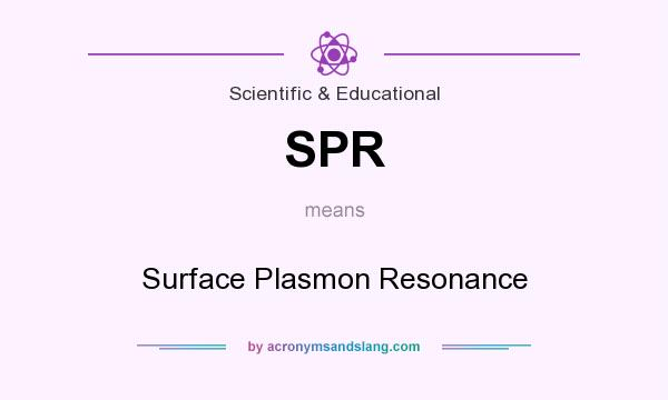 What does SPR mean? It stands for Surface Plasmon Resonance
