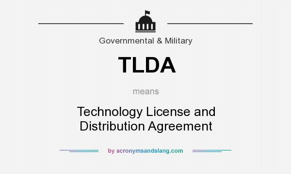 Tlda Technology License And Distribution Agreement In Government