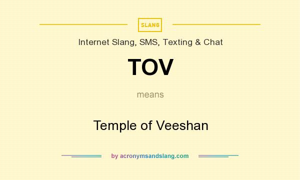 What does TOV mean? It stands for Temple of Veeshan