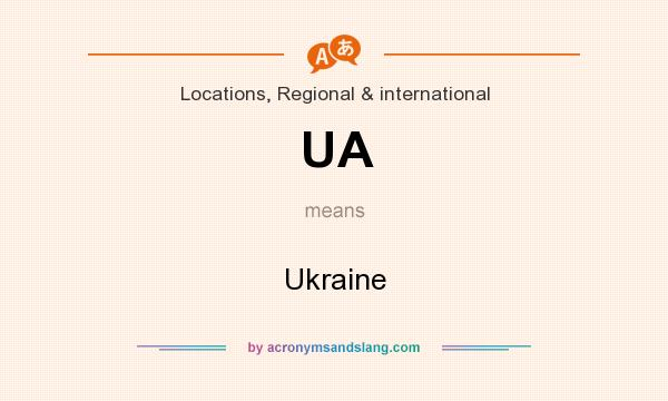 What does UA mean? It stands for Ukraine