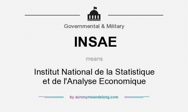 What does INSAE mean? It stands for Institut National de la Statistique et de l`Analyse Economique