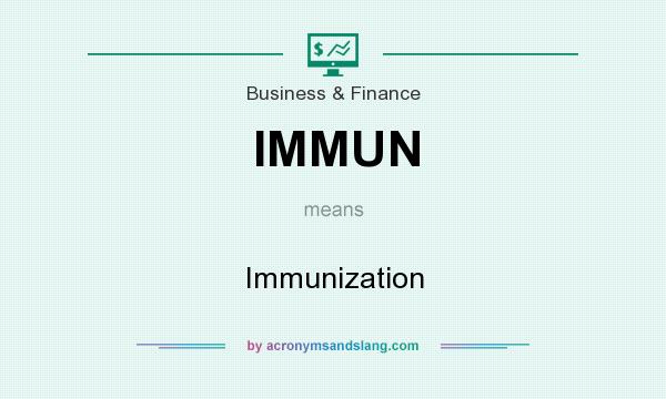 What does IMMUN mean? It stands for Immunization