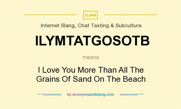 What does ILYMTATGOSOTB mean? - Definition of ILYMTATGOSOTB