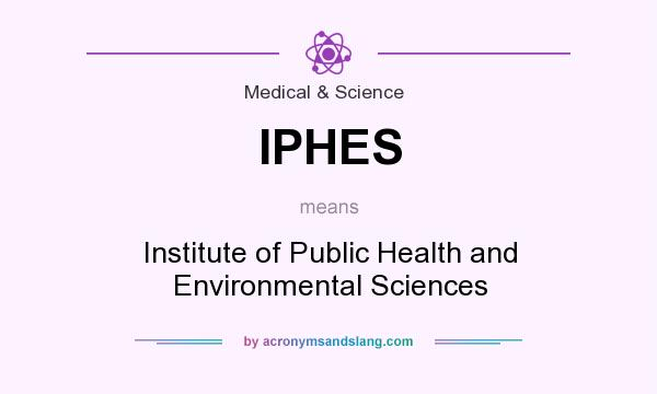 What does IPHES mean? It stands for Institute of Public Health and Environmental Sciences