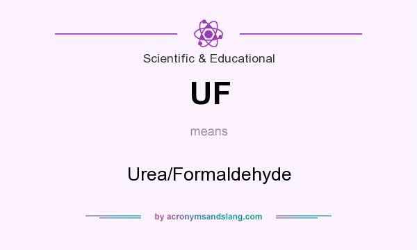 What does UF mean? It stands for Urea/Formaldehyde