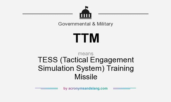 TTM - TESS (Tactical Engagement Simulation System) Training