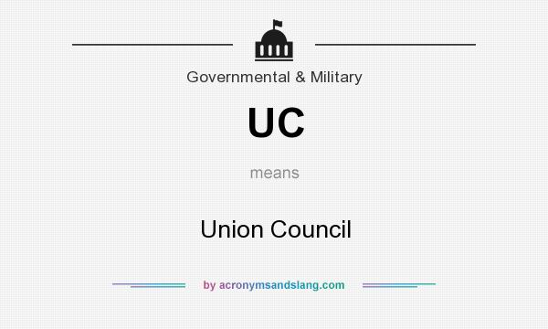 What does UC mean? It stands for Union Council