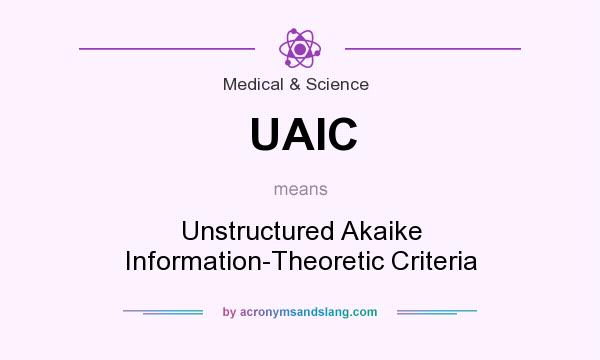 What does UAIC mean? It stands for Unstructured Akaike Information-Theoretic Criteria