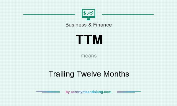 What does TTM mean? It stands for Trailing Twelve Months