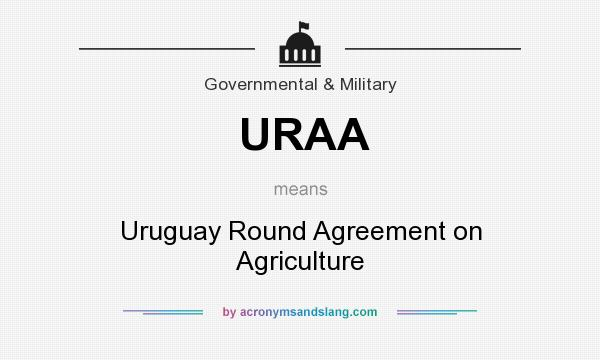 Uraa Uruguay Round Agreement On Agriculture In Government
