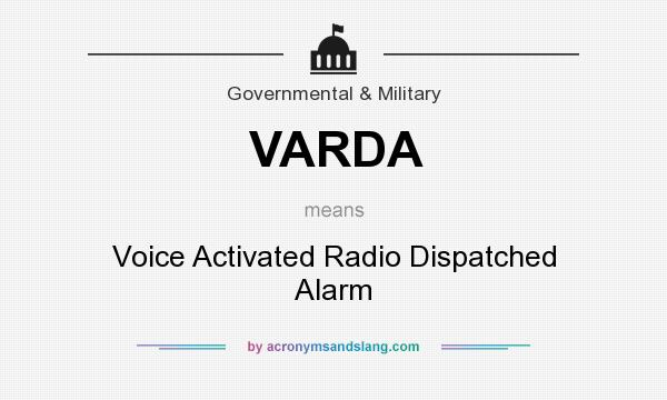 varda voice activated radio dispatched alarm in government military by. Black Bedroom Furniture Sets. Home Design Ideas