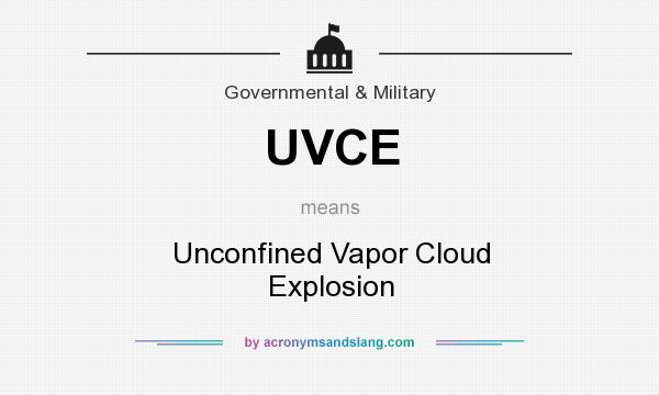 What does UVCE mean? It stands for Unconfined Vapor Cloud Explosion