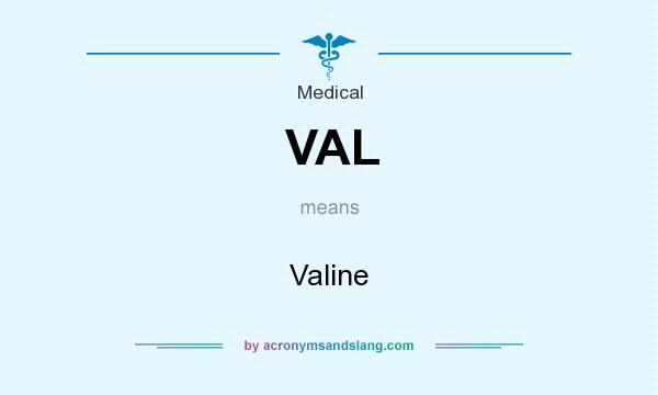 What does VAL mean? It stands for Valine