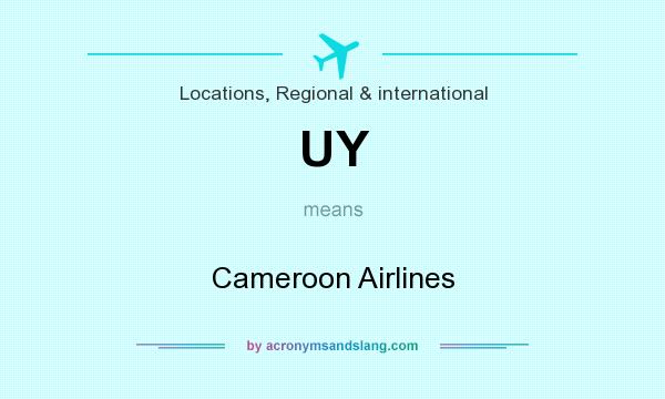 What does UY mean? It stands for Cameroon Airlines