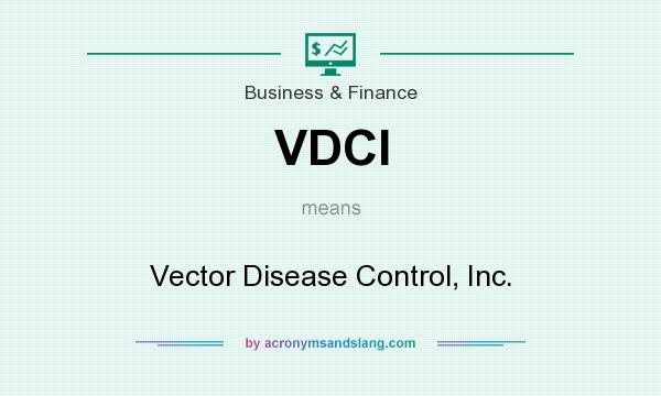 What does VDCI mean? It stands for Vector Disease Control, Inc.