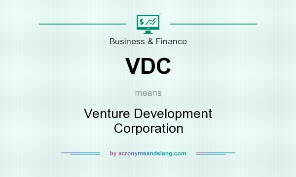 What does VDC mean? It stands for Venture Development Corporation