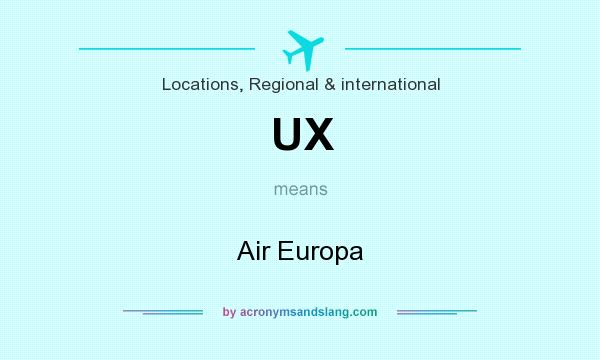 What does UX mean? It stands for Air Europa