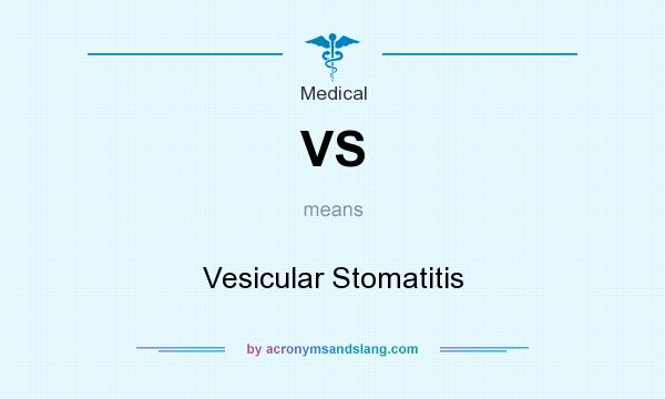 What does VS mean? It stands for Vesicular Stomatitis