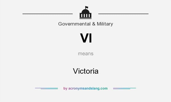 What does VI mean? It stands for Victoria