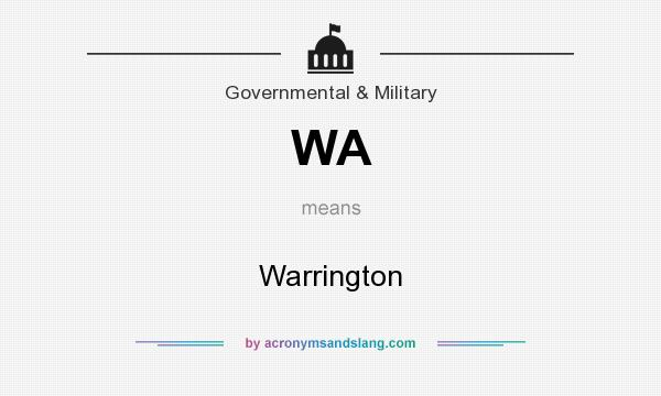 What does WA mean? It stands for Warrington